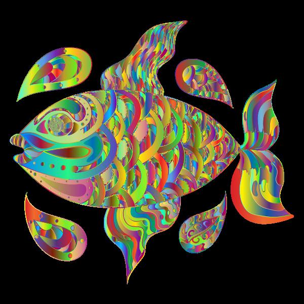 Prismatic Hand Drawn Fish