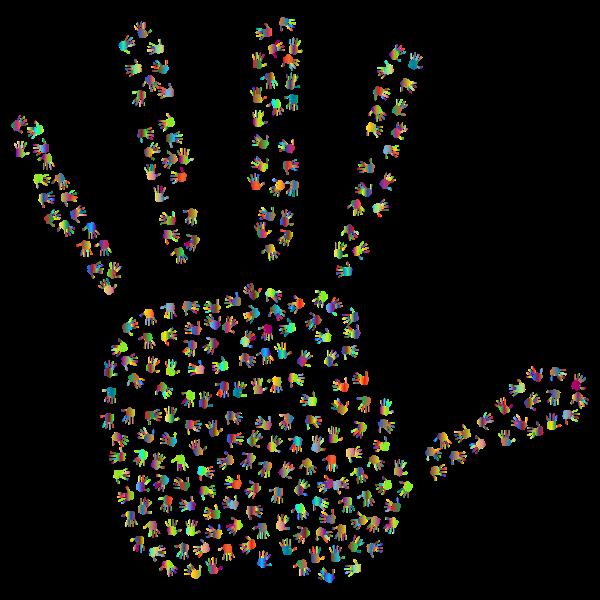 Prismatic Handprint Fractal 3