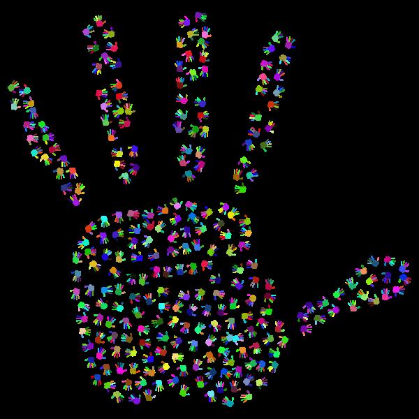 Prismatic Handprint Fractal