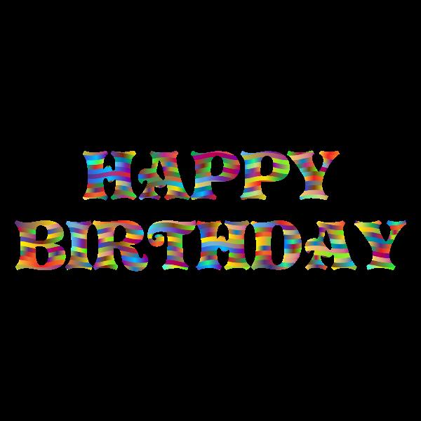 Prismatic Happy Birthday Typography 3