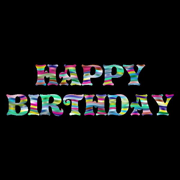 Prismatic Happy Birthday Typography 4