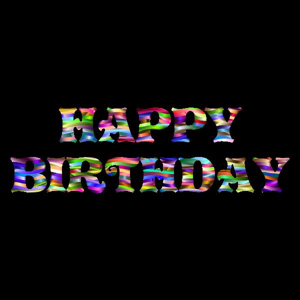 Prismatic Happy Birthday Typography 5
