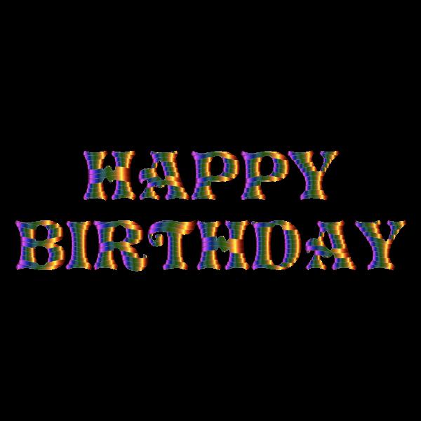 Prismatic Happy Birthday Typography 6