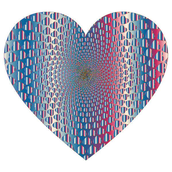 Prismatic Hearts Vortex Heart 10