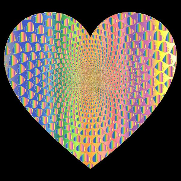 Prismatic Hearts Vortex Heart 11
