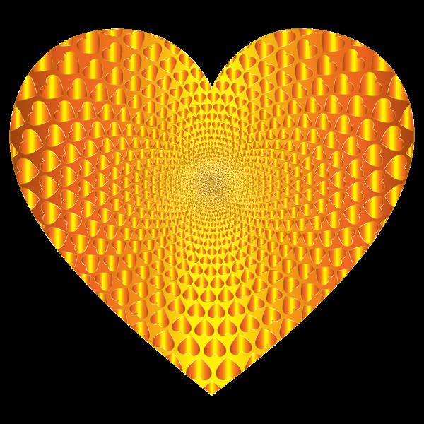 Prismatic Hearts Vortex Heart 12