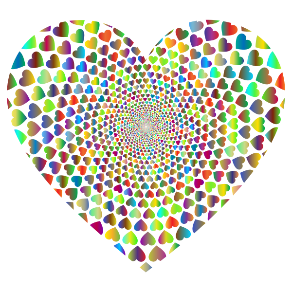 Prismatic Hearts Vortex Heart 4