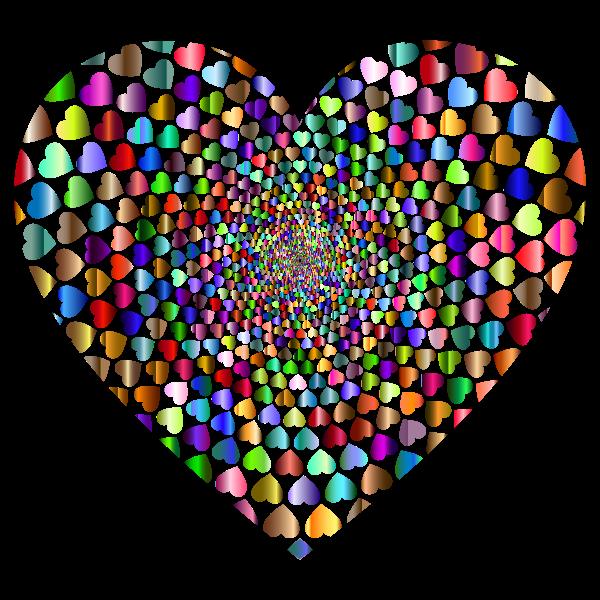 Prismatic Hearts Vortex Heart 6