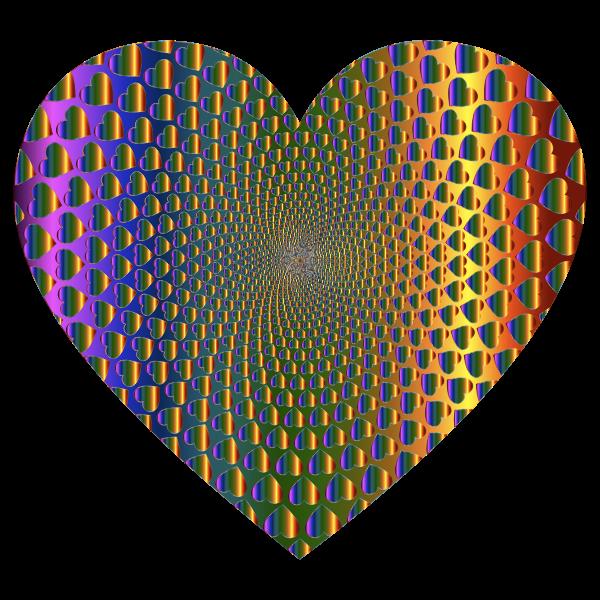 Prismatic Hearts Vortex Heart 7
