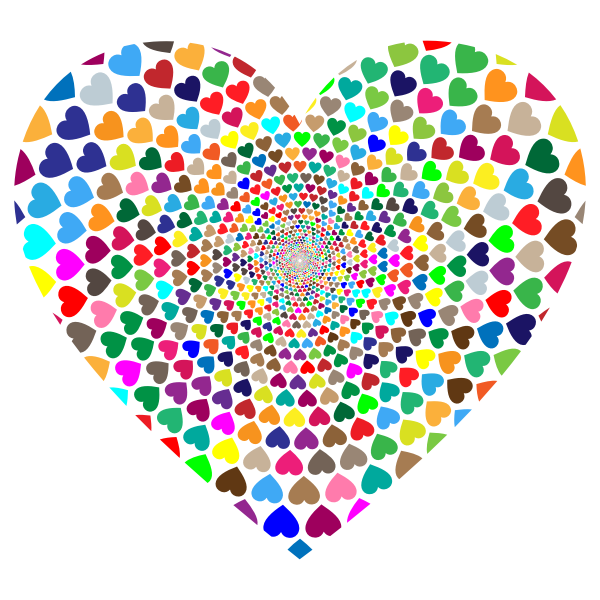 Prismatic Hearts Vortex Heart