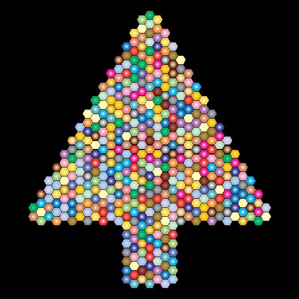 Prismatic Hexagonal Abstract Christmas Tree 2