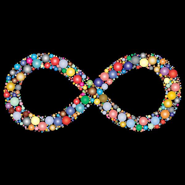 Prismatic Infinity Symbol Circles 2
