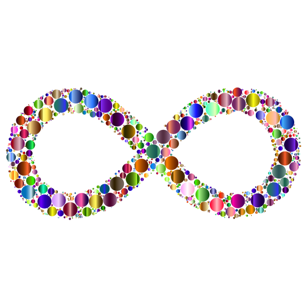 Prismatic Infinity Symbol Circles 3