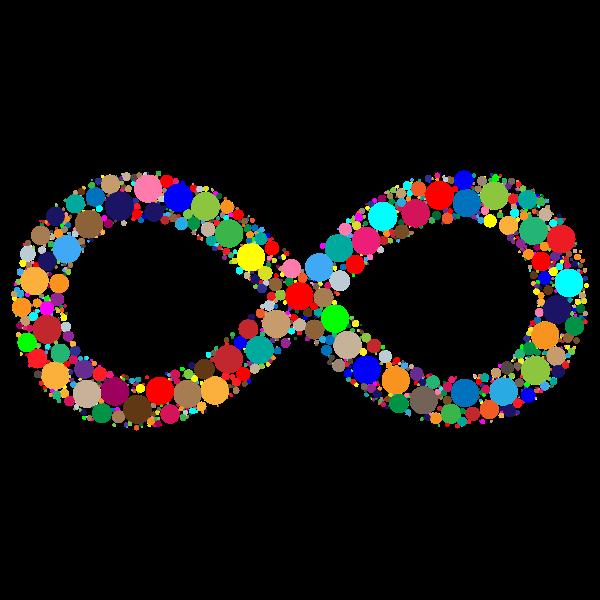 Prismatic Infinity Symbol Circles