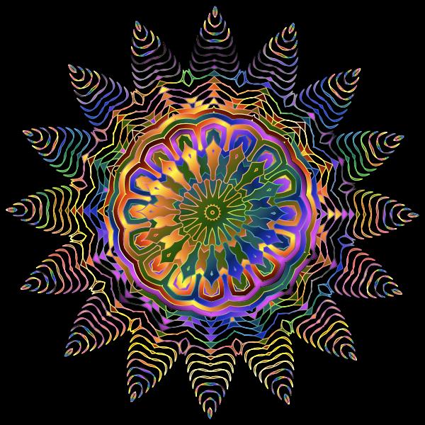 Prismatic Line Art Design 2