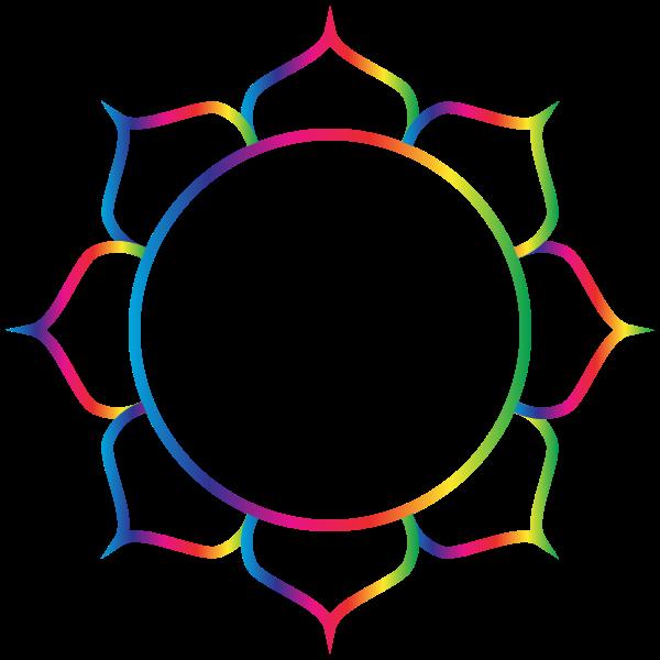 Prismatic Pattern Lotus Flower Line Art
