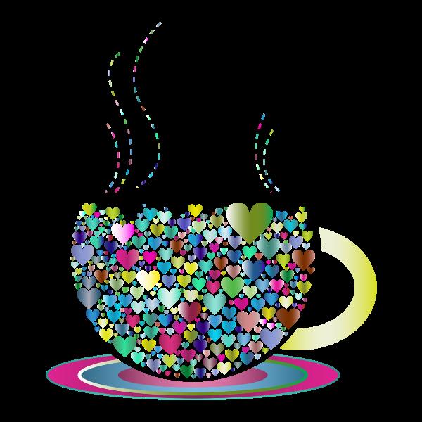 Prismatic Love Hearts Coffee By Lin Chu 2