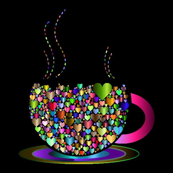 Prismatic Love Hearts Coffee By Lin Chu 5