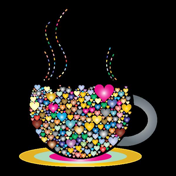 Prismatic Love Hearts Coffee By Lin Chu
