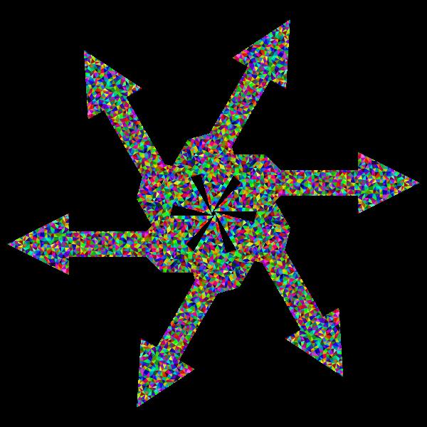 Prismatic Low Poly Arrow Art 3