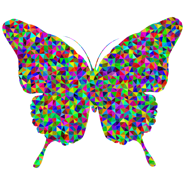 Prismatic Low Poly Butterfly 2
