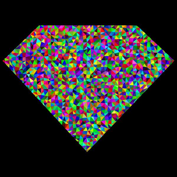 Prismatic Low Poly Diamond