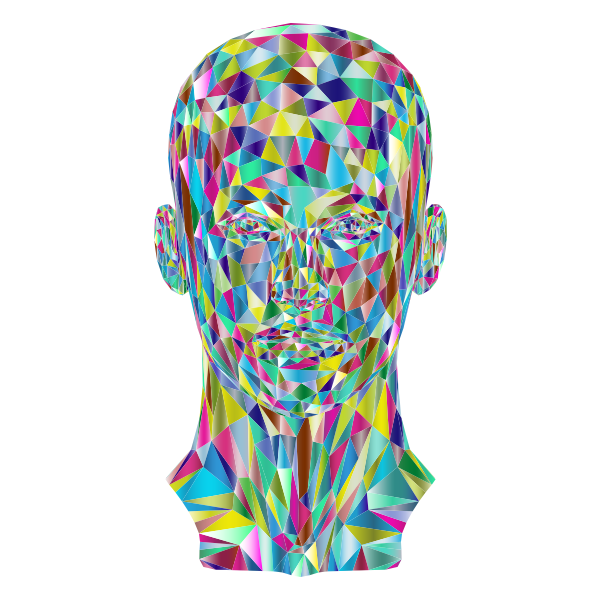 Prismatic Low Poly Female Head 2