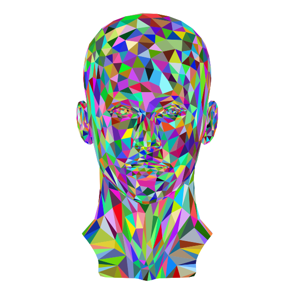 Prismatic Low Poly Female Head