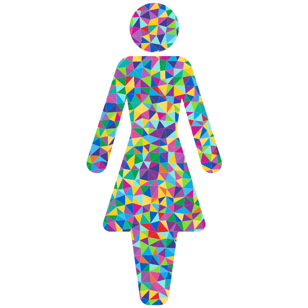 Prismatic female symbol
