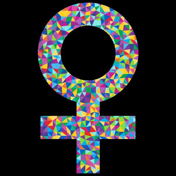 Prismatic Female Sign