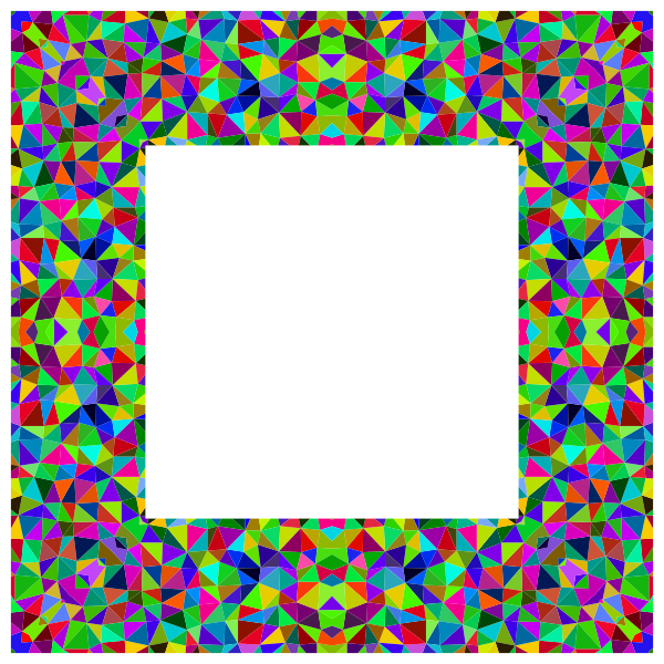 Prismatic Low Poly Frame