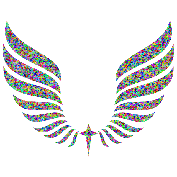 Low Poly Pattern Abstract Wings