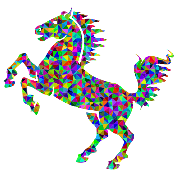 Prismatic Low Poly Horse