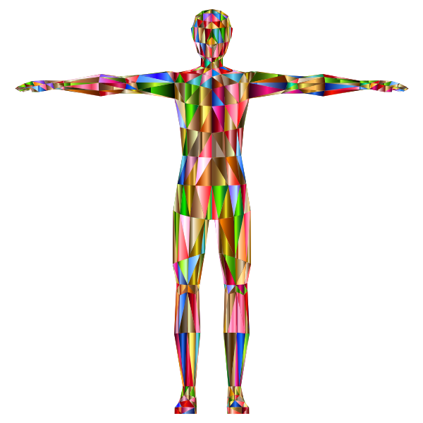 Prismatic Low Poly Human Male Variation 4