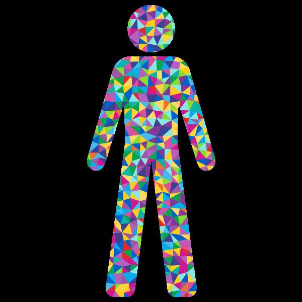Prismatic male symbol