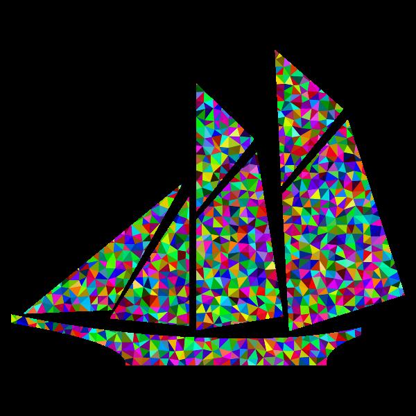 Prismatic Low Poly Sailboat