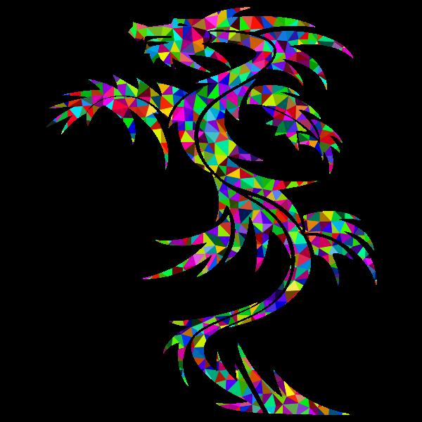 Prismatic Low Poly Tribal Dragon