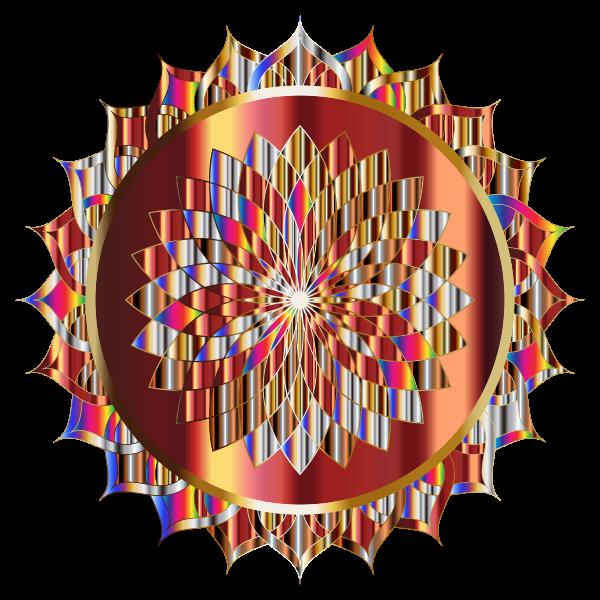 Prismatic Mandala Line Art 11