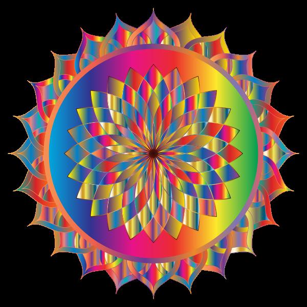 Prismatic Mandala Line Art 12