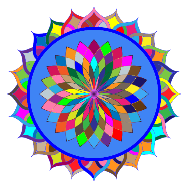 Prismatic Mandala Line Art 2