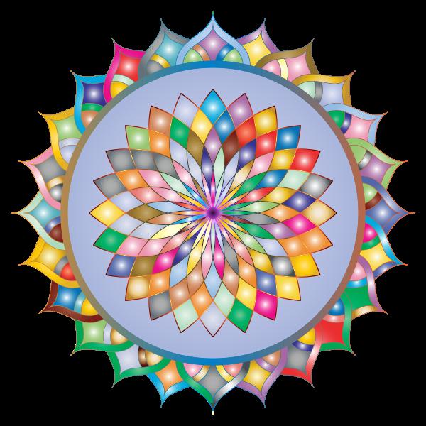 Prismatic Mandala Line Art 4