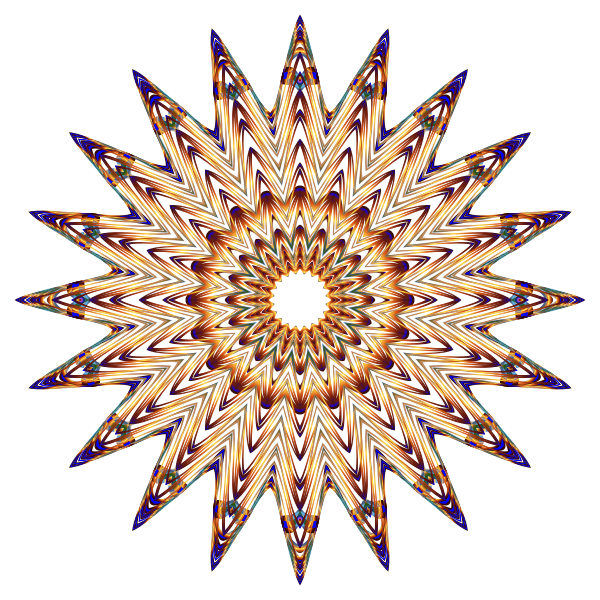 Prismatic Mandala Line Art 6 No Background