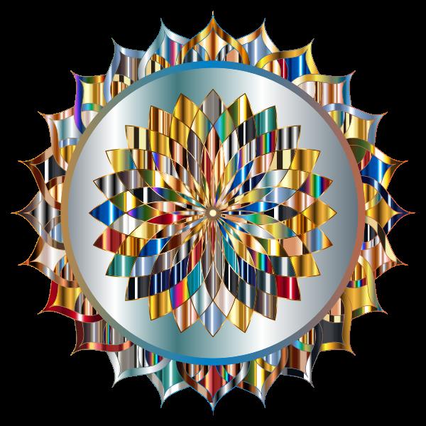 Prismatic Mandala Line Art 6