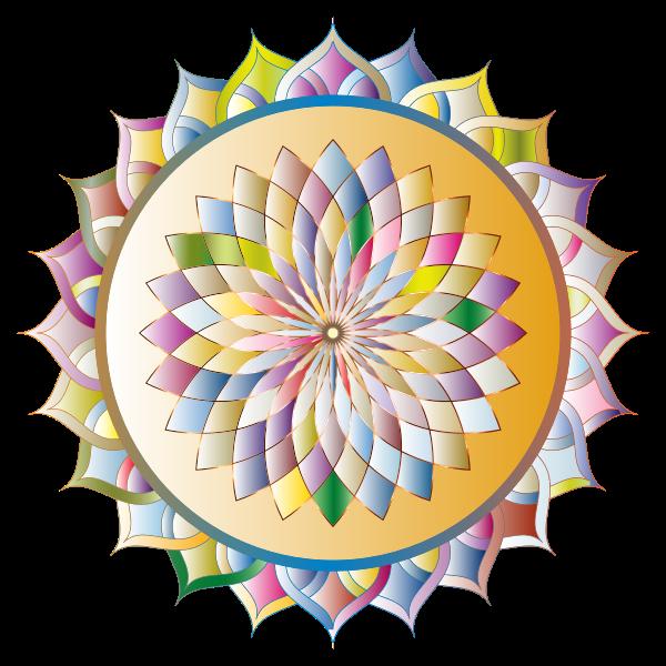 Prismatic Mandala Line Art 7