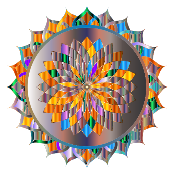 Prismatic Mandala Line Art 8