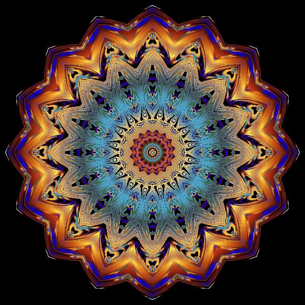Prismatic Mandala Line Art 9 No Background
