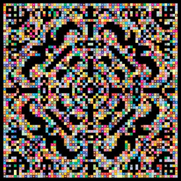 Prismatic Metropolitan Museum Pattern Recreated 3 No Background
