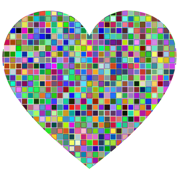 Prismatic Mosaic Heart