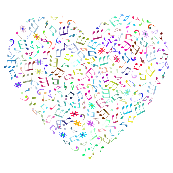 Prismatic Musical Heart 4 2 No Background