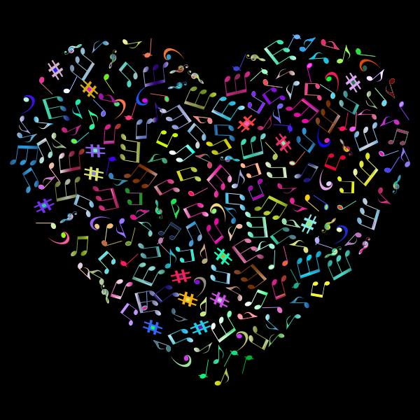 Prismatic Musical Heart 4 2